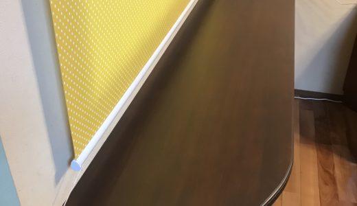 サイドボードの天板を作って取り付けました。私のお仕事は?