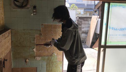 築100年以上、M様邸、解体が始まりました。私もお手伝いしています。